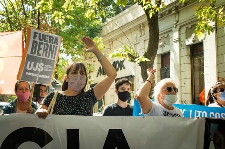 Romina Del Plá en la marcha a 6 meses del asesinato de Lito Costilla